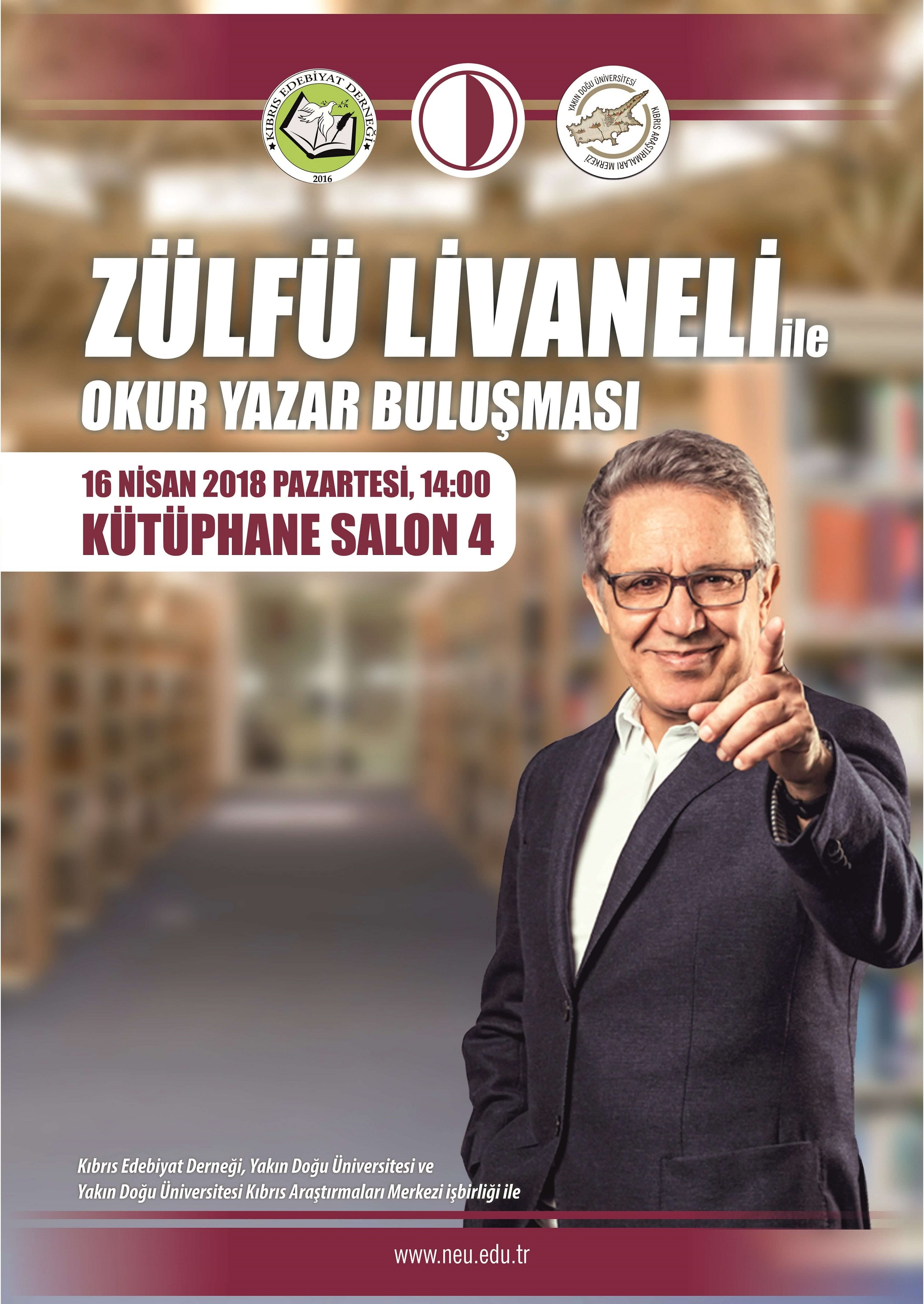 Zülfü Livaneli is getting together with readers on Near East University campus