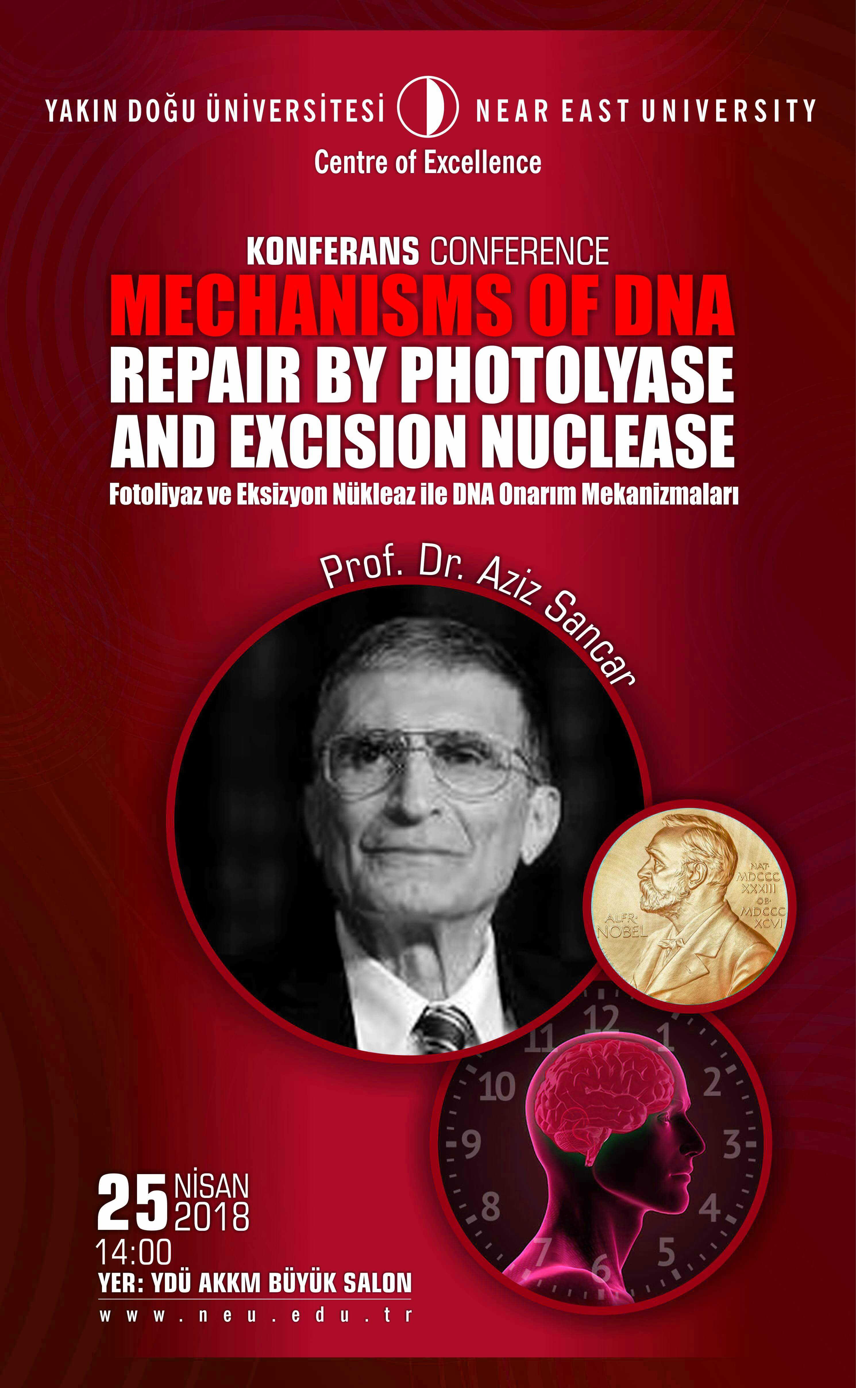 "Conference: ""Mechanisms of DNA Repair by Photolyase and Excision Nuclease"""