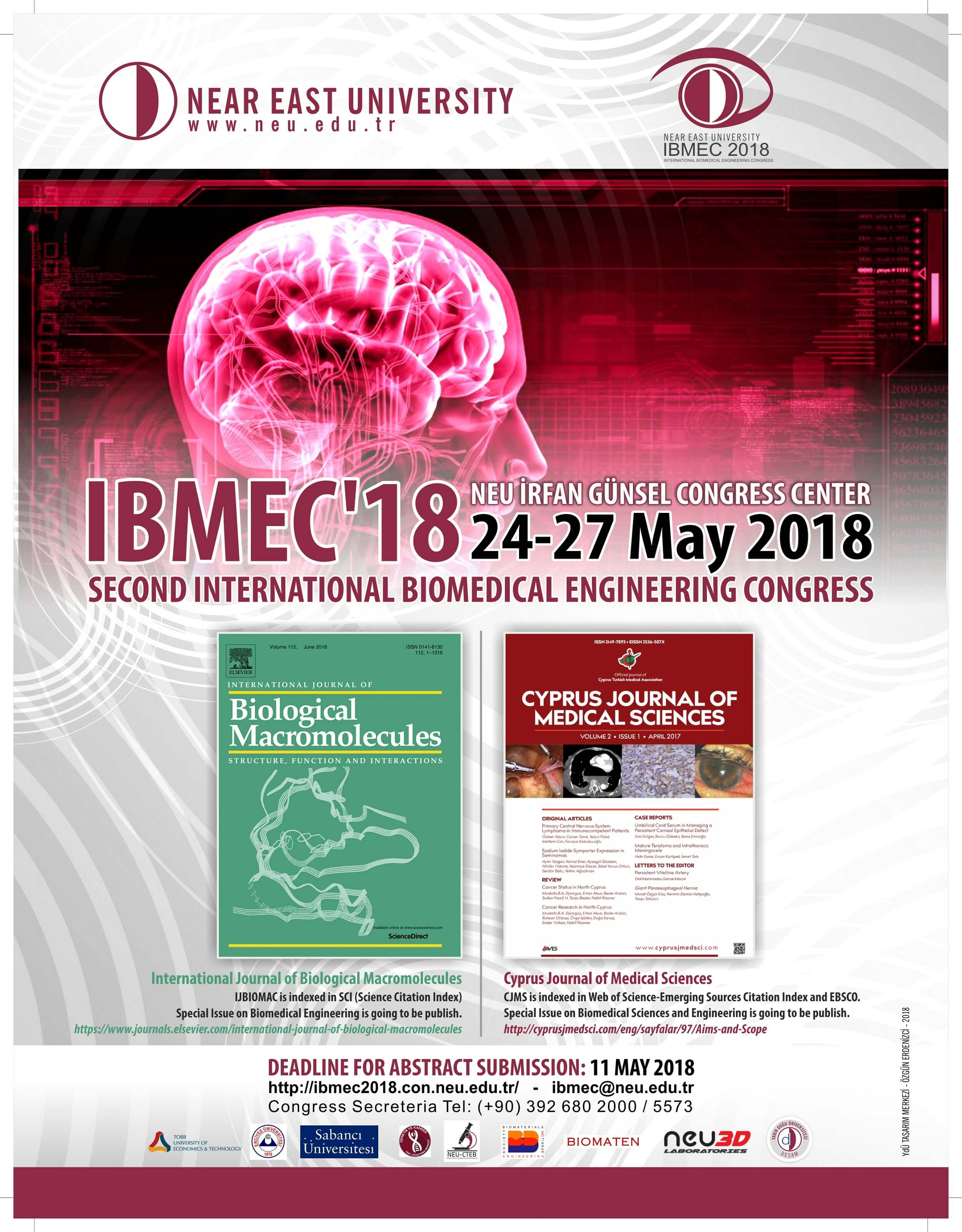 Two special issues will be published at the end of IBMEC-2018 organized by Near East University