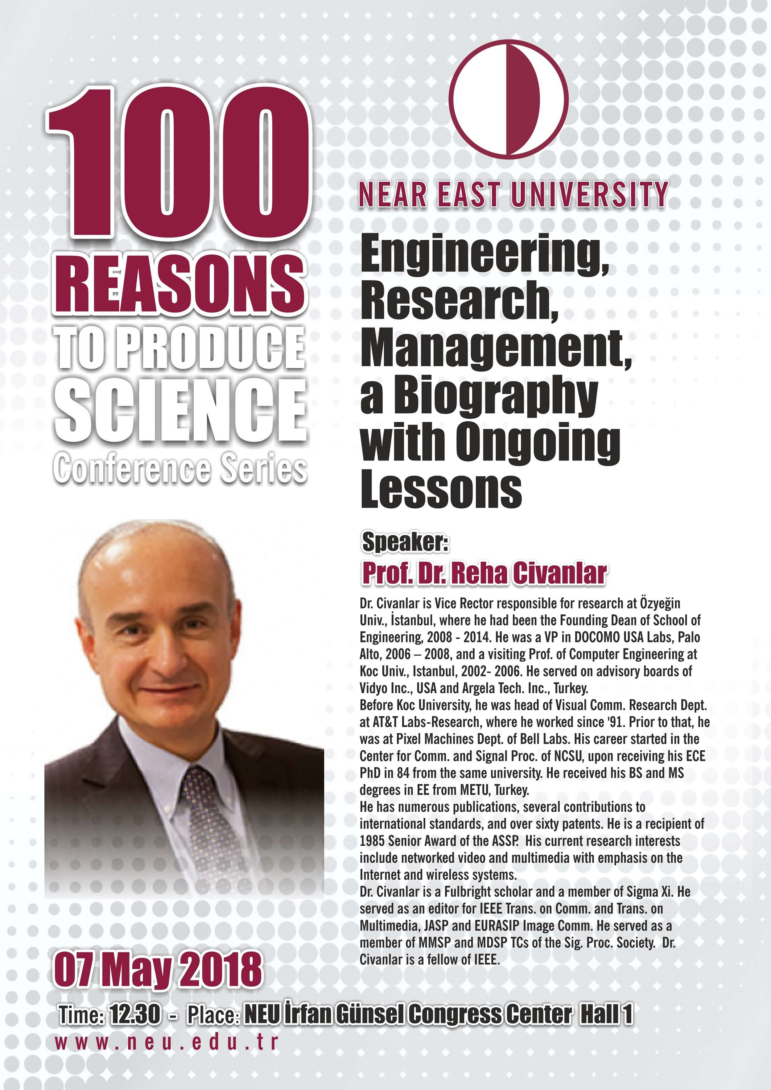 Conference: Engineering, Research, Management, a Biography with Ongoing Lessons