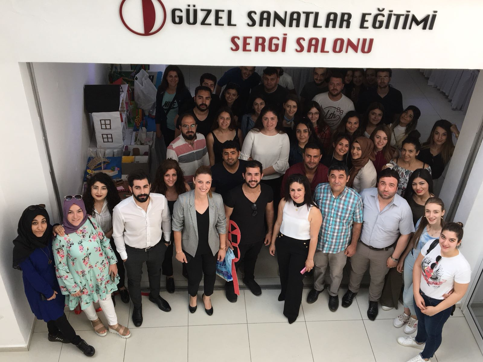 The Mixed Material Exhibition of Near East University Atatürk Faculty of Education attracted a lot of attention
