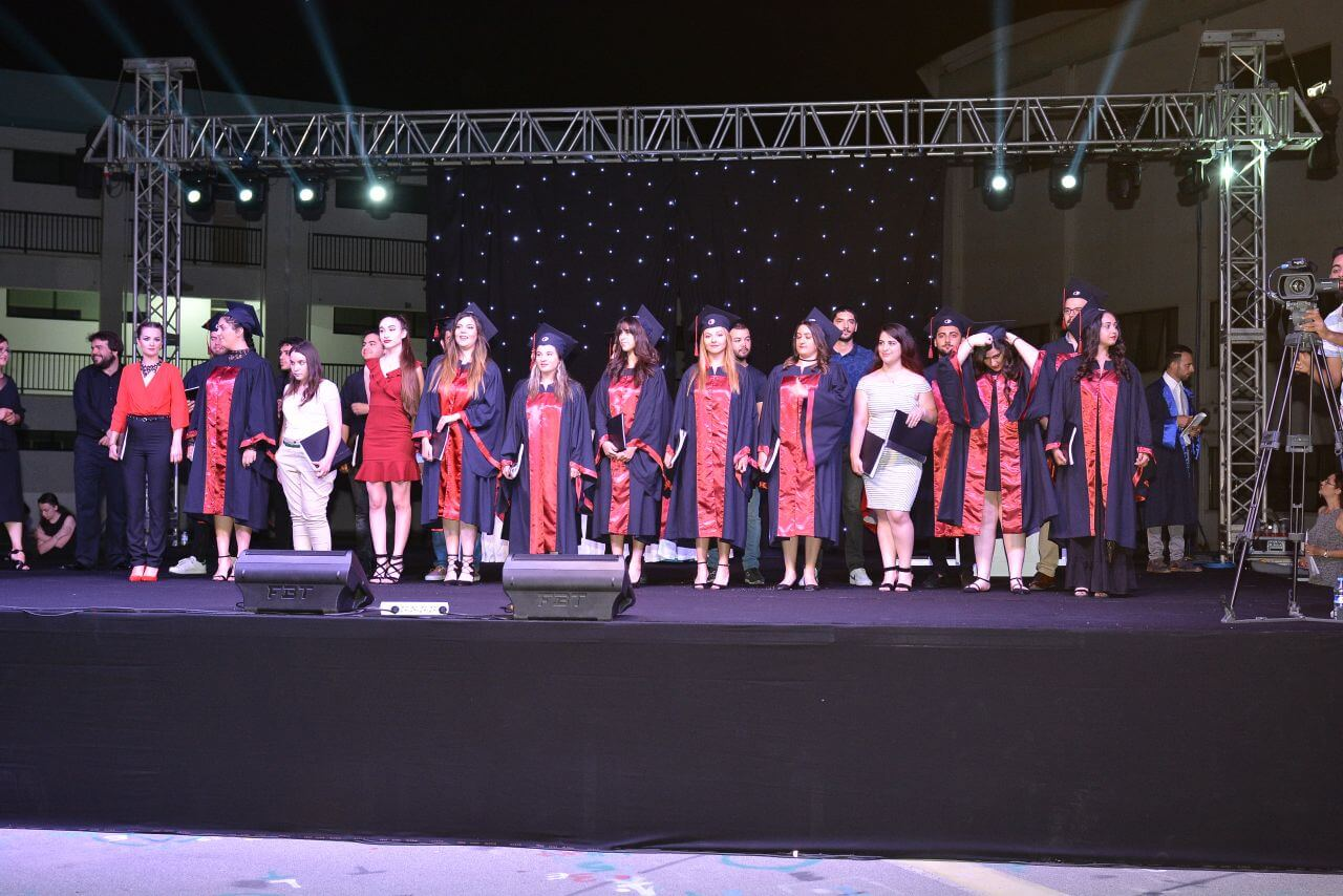 Intensive Participation to Atatürk Faculty of Education Graduation Ceremony  in Outdoors