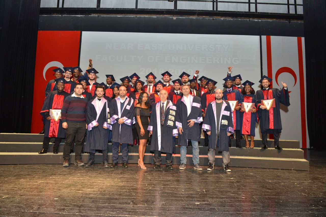 The 22th Fall Term Graduation Ceremony of the Faculty of Engineering of Near East University was realized