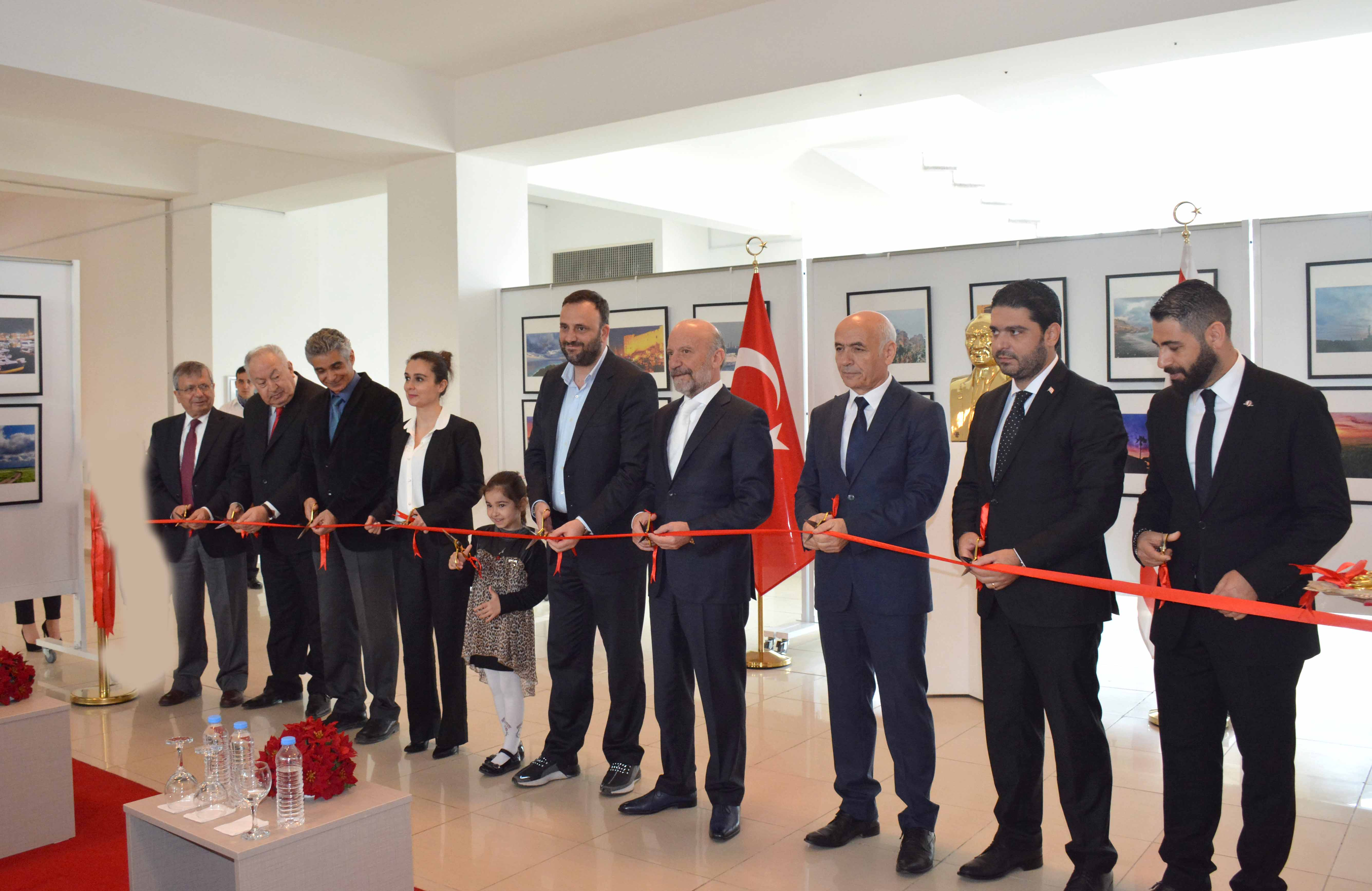 North Cyprus Mixed Photo Painting Exhibition of Elif Tuncel and Ediz Tuncel consisting of 130 photo-paintings opened by Zeki Çeler, Minister of Labor and Social Security