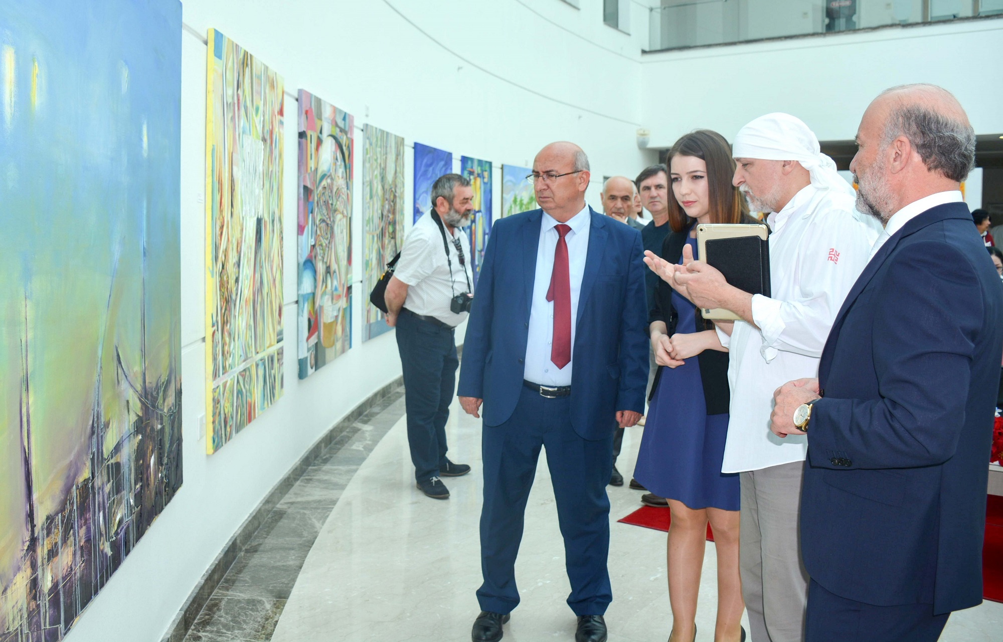 "Consisting of 40 Works of 10 Ukrainian Painters, the ""Ukrainian Artists Exhibition"" was opened by National Education and Culture Minister Cemal Özyiğit"