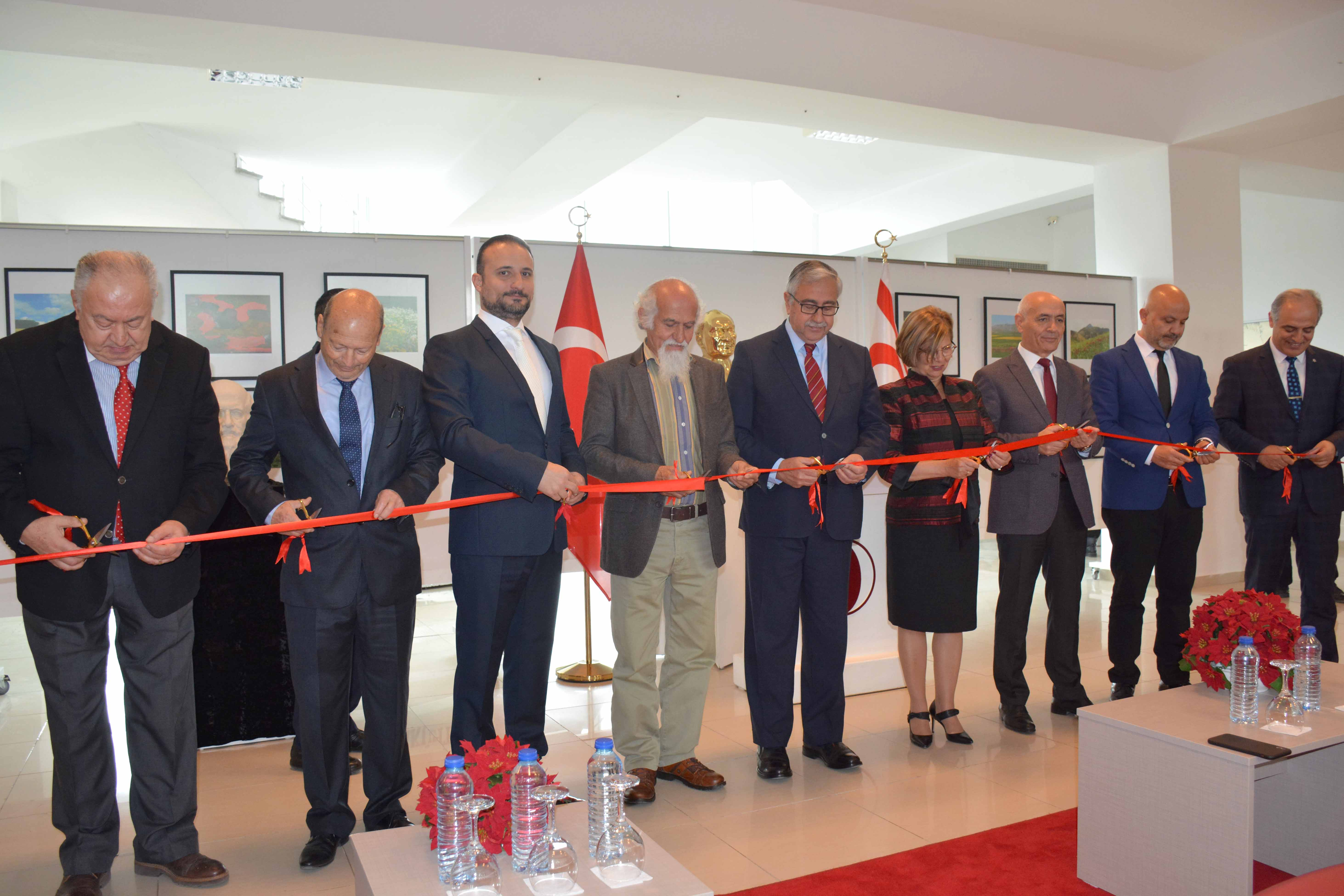 "The photography exhibition titled as ""The Colours and Shapes of the Island"" and consisting of 190 pieces of Hikmet Uluçam has been opened by TRNC President Mustafa Akıncı"
