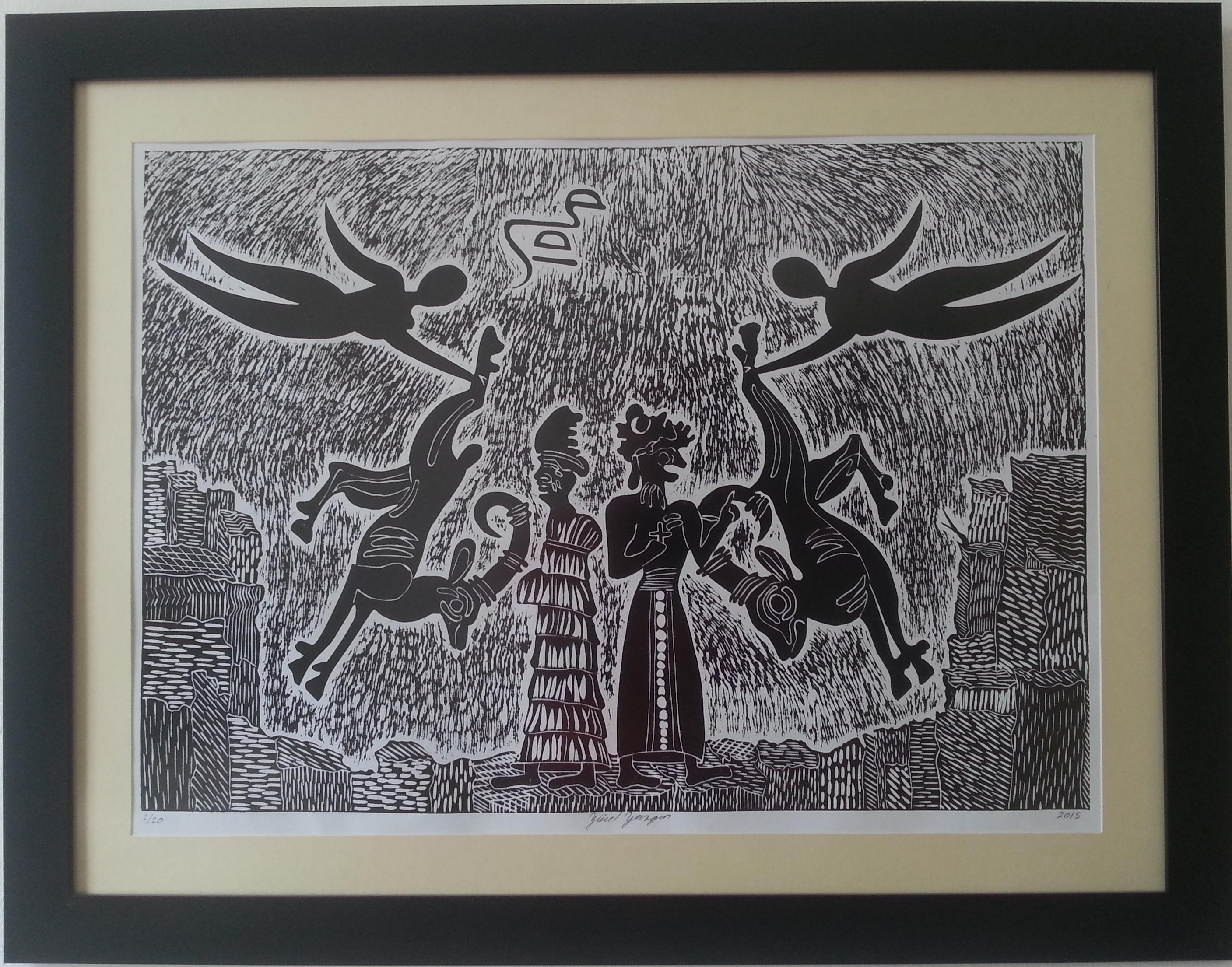 Kıbrıs Modern Sanat Müzesinde özgün Baskı Resminin örnekleri