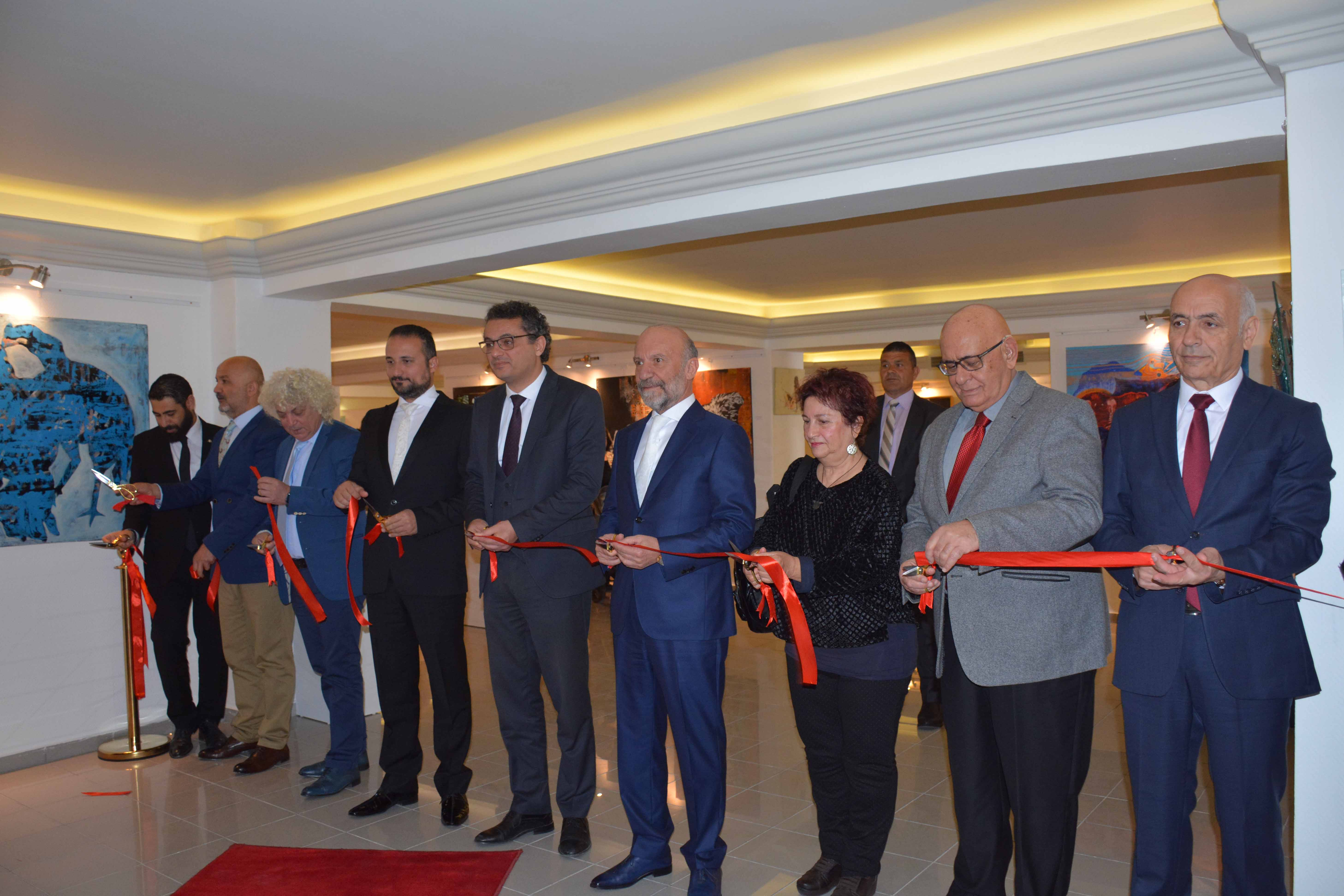 "Featuring 142 works of 61 Artists, the Exhibition titled ""To Exist with Art "", which was organized by the Cyprus Museum of Modern Arts in Memory of the Tenth Death Anniversary of the Pioneer Turkish Cypriot Painter Ismet Vehit Güney, was opened by the Prime Minister Tufan Erhürman"