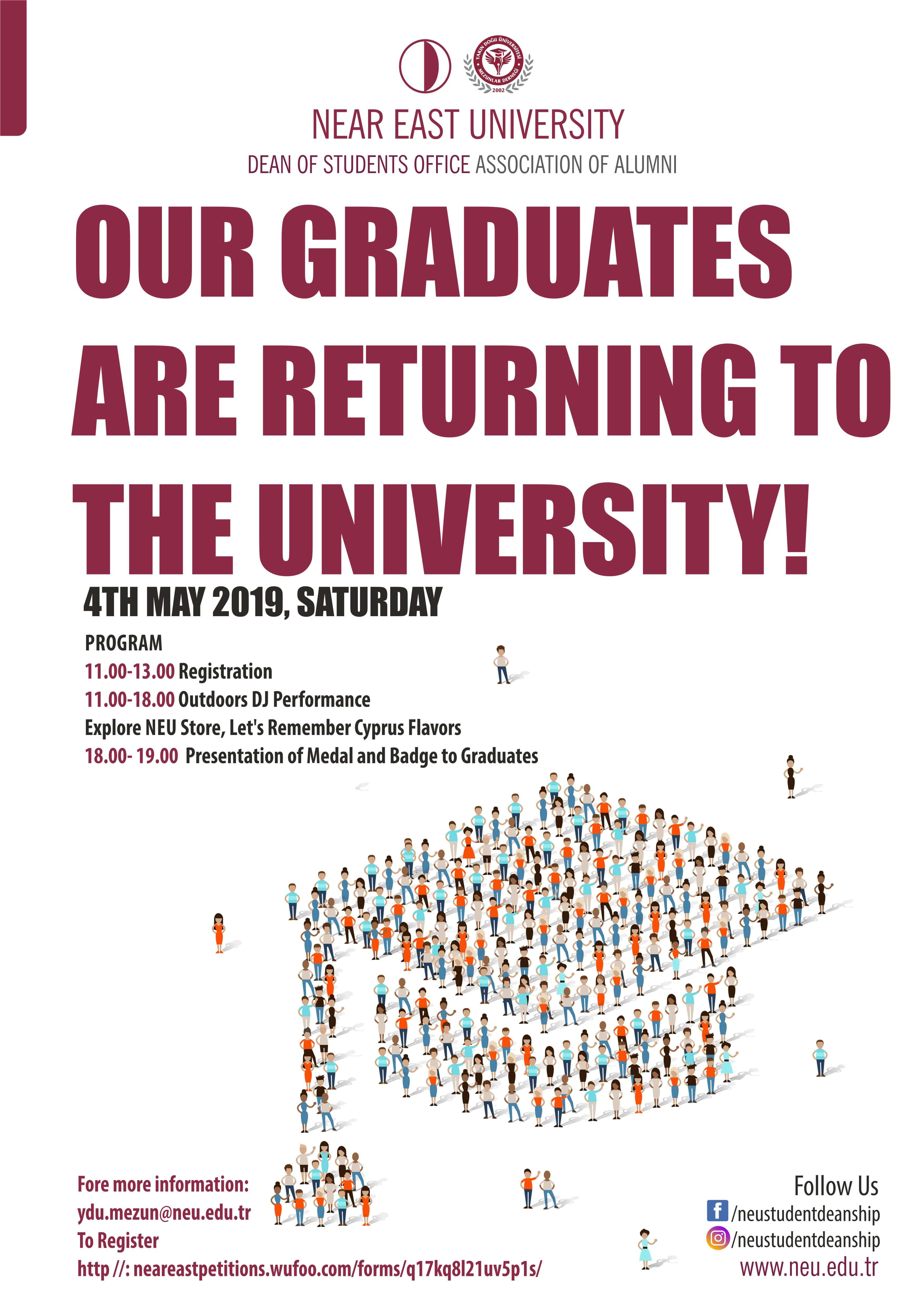 The Excitement of Near East University Graduates' Meeting…The 1st Graduates' Meeting will be held on 4th May