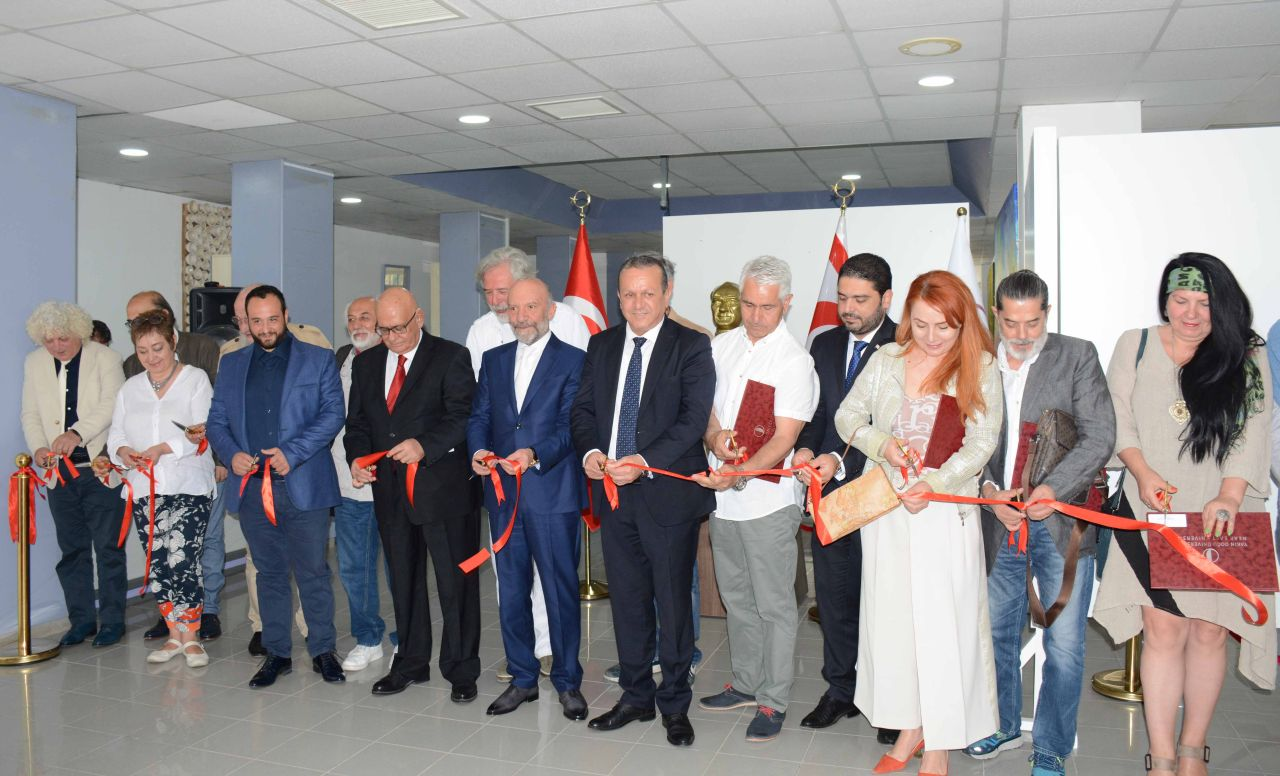 "The Exhibition of 35 Art Pieces especially prepared for the Cyprus Museum of Modern Arts by the 15 Artists from Balkan Countries titled as ""International Art Residence Exhibition"" has been opened by Minister of Tourism and Environment Fikri Ataoğlu…"