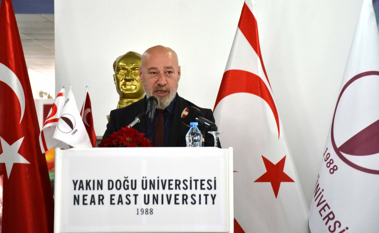 Teaching Staff Exhibition Consisting of More Than 100 Artworks of Faculty Members of Near East University Opened by Fikri Ataoğlu, Minister of Tourism and Environment…