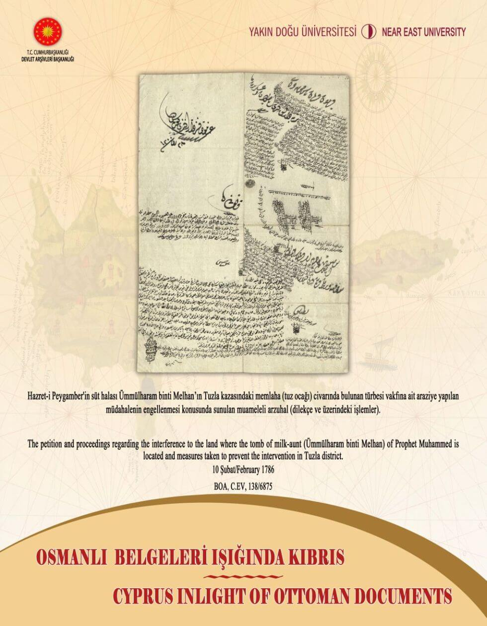 "Having Been Organized under the Guidance of the Cyprus Turkish National History Museum, the Exhibition Themed ""Cyprus in the Light of Ottoman Documents"" Will Be Opened by Ali Murat Başçeri, Ambassador of the Republic of Turkey to Nicosia…"