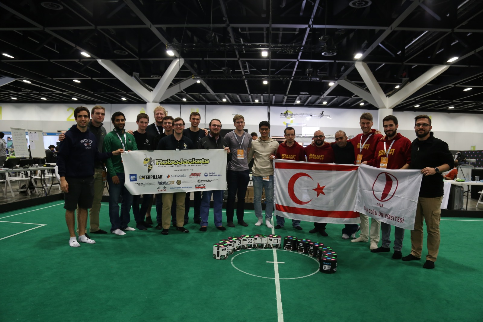 Near East University Robotic Football Team's Second Match at RoboCup 2019 results with a triumph over Japanese Team National Institute of Technology…