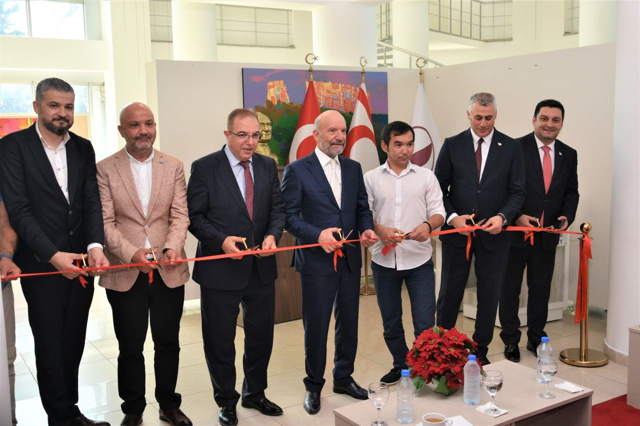 Kyrgyz Artist Almaz Sharshekeev's Solo Painting Exhibition Consisting Of 25 Works Opened By Minister of Finance Olgun Amcaoğlu…