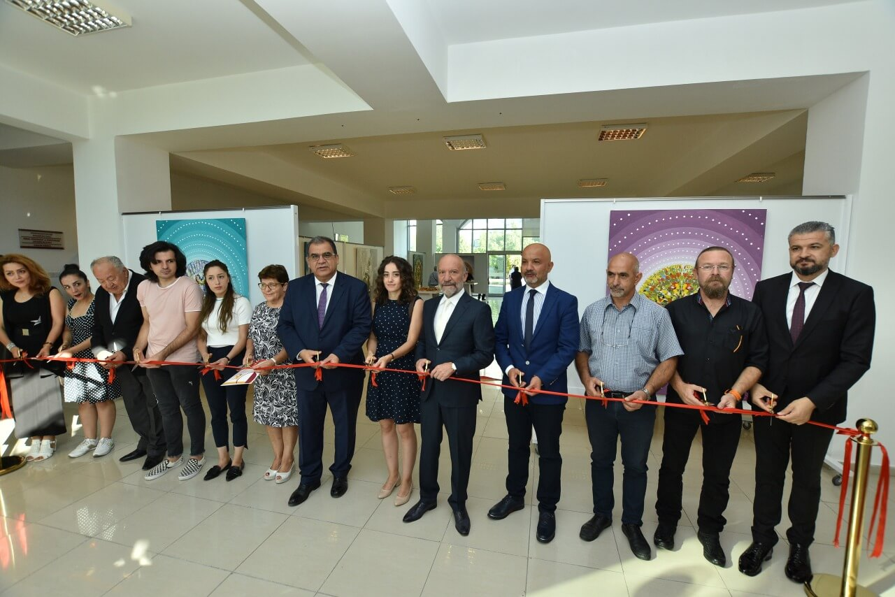 The Exhibition of a Total of 25 Art Pieces Especially Prepared by 4 Kazakh Artists for the Cyprus Museum of Modern Arts and 35 Art Pieces of 6 Artists from Turkey has been opened by Minister of Labour and Social Security Dr. Faiz Sucuoğlu