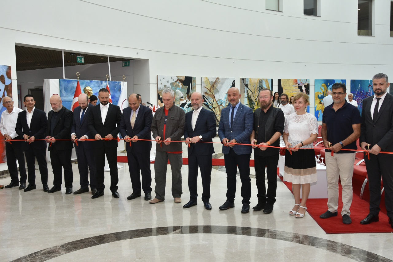 Four Solo Painting Exhibitions consisting of 141 Artworks exclusively made for Cyprus Museum of Modern Arts by Kazakh Artists and Group Painting Exhibition consisting of 25 Artworks of Kazakh Artists opened by Minister of Public Works and Transportation Tolga Atakan