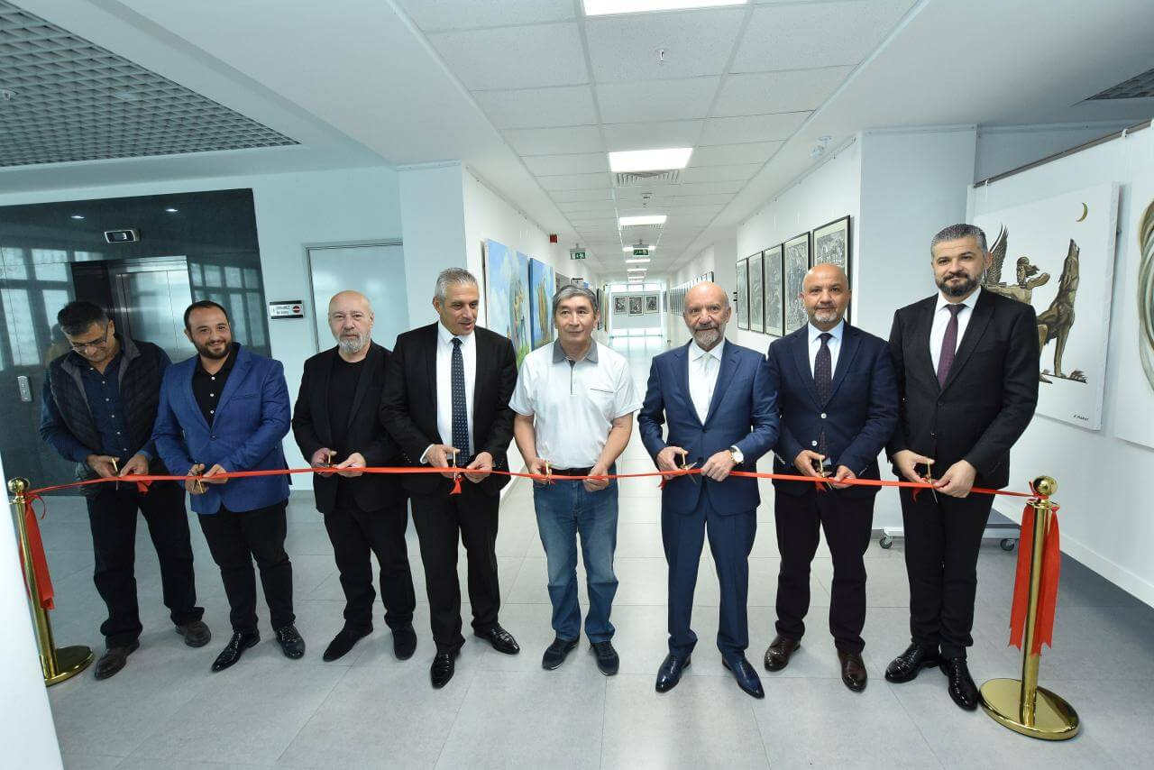 Nine Exhibitions consisting of 227 Works exclusively made for Cyprus Museum of Modern Arts opened by Minister of Economy and Energy Hasan Taçoy