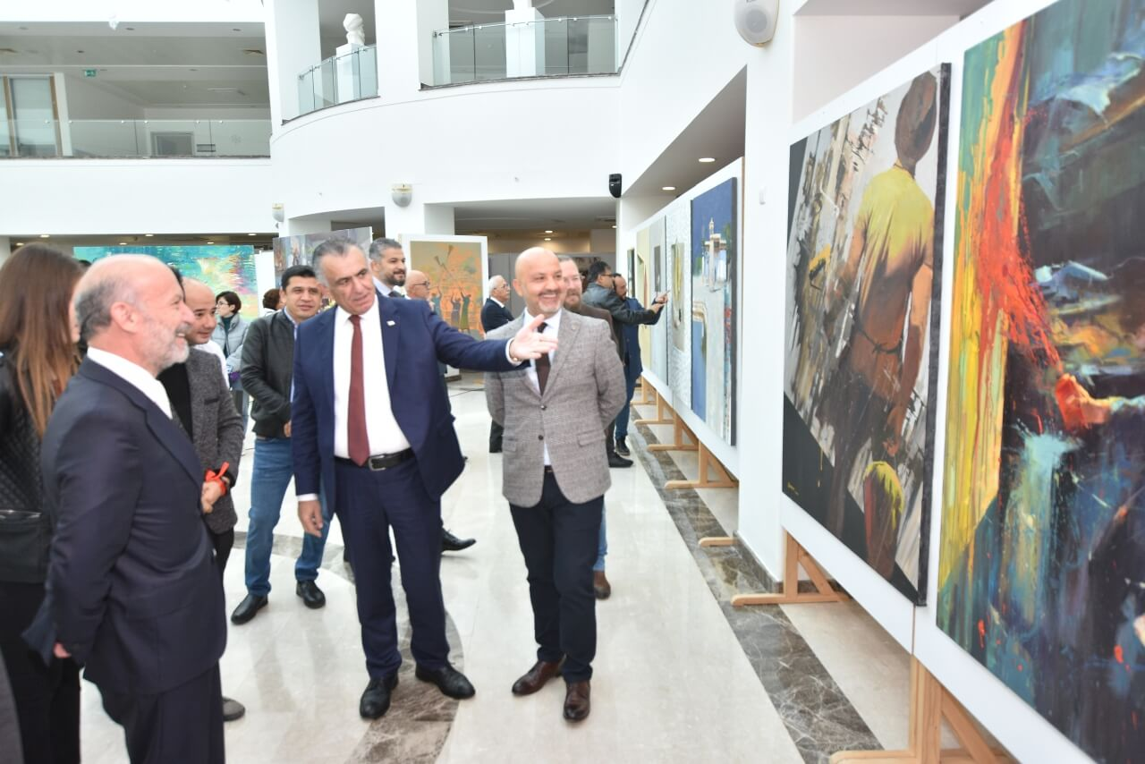 Consisting of a total of 120 artworks exclusively prepared for the Cyprus Museum of Modern Arts by six Uzbek artists, six solo exhibitions were opened by Nazım Çavuşoğlu, Minister of National Education and Culture