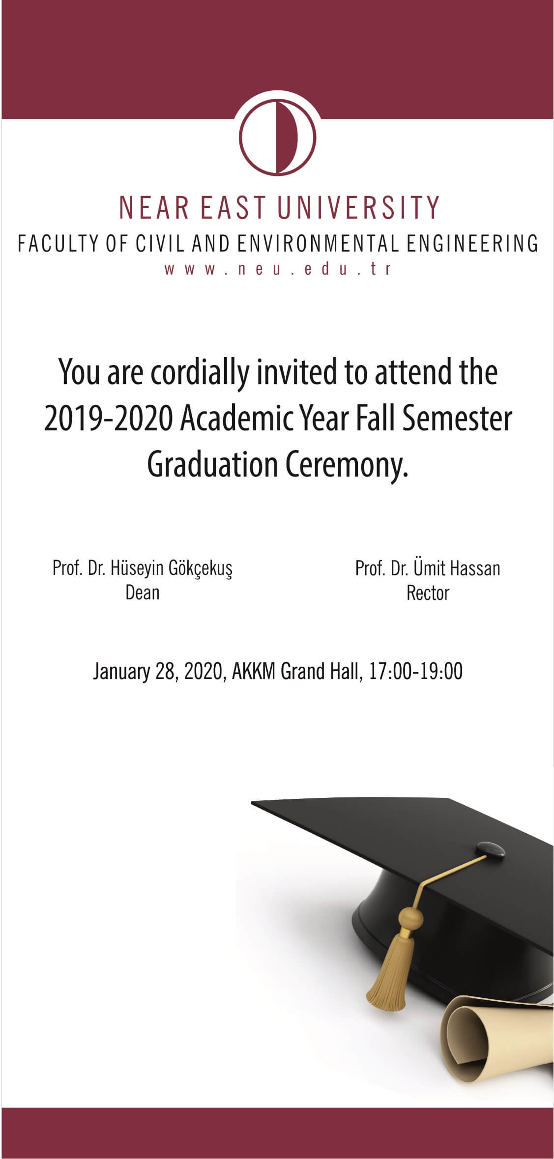 Faculty of Civil and Environmental 2019-2020 Academic Year Fall Semester Graduation Ceremony