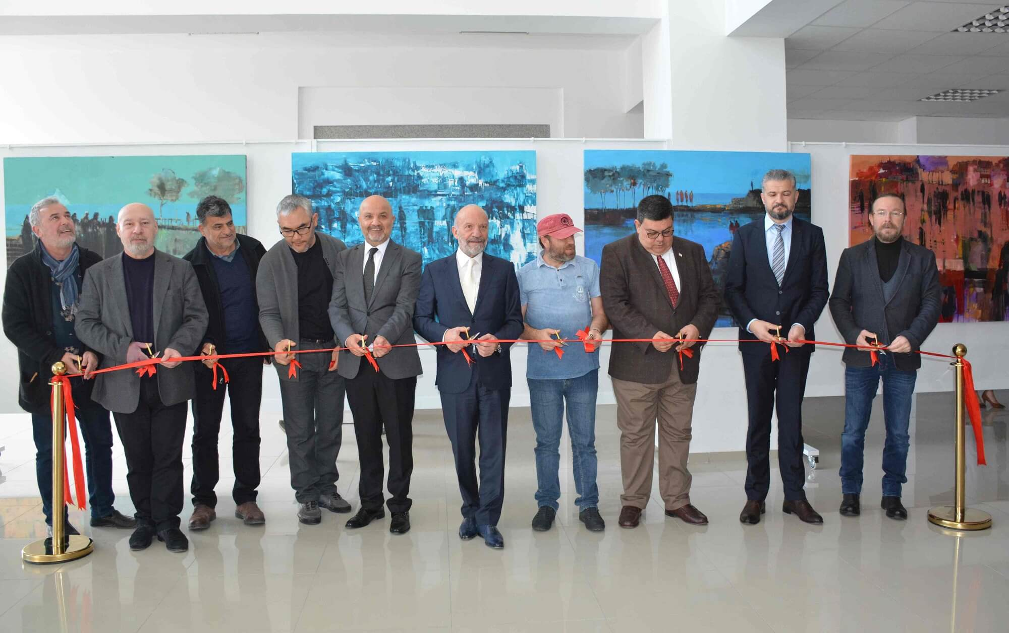 Turkish Artist Orhan Zafer's Solo Exhibition titled Buffer Zone and  Kyrgyz Artist Baizak Alybayev's Solo Exhibition titled (View) exclusively held for Cyprus Museum of Modern Arts opened by Former Minister of National Education and Culture, UBP Kyrenia MP Dr. Özdemir Berova