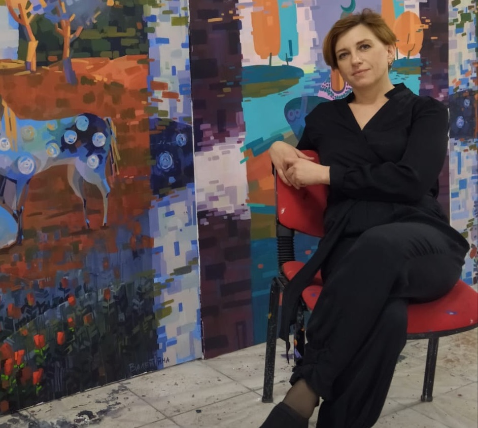 "Artist Valentina Mukhacheva presented her four artworks named ""St.Barnabas Monastery"", ""Lala Mustafa Pasha Mosque"", ""Selimiye Mosque"" and ""Arap Ahmet Pasha Mosque"" to the art lovers for the Cyprus Museum of Modern Arts"