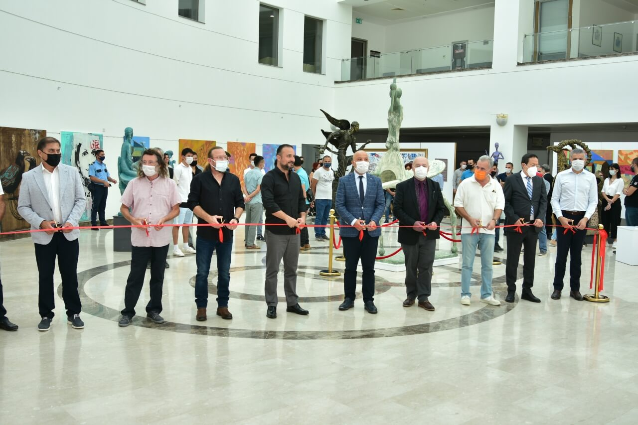 "Held as part of the Cyprus Museum of Modern Arts project, the ""Fine Arts Republic Exhibition"" consisting of the works of artists from the Near East University Faculty of Fine Arts and the Turkic World was opened by the Chairman of the Board of Trustees of Near East University, Prof. Dr. İrfan Suat Günsel."